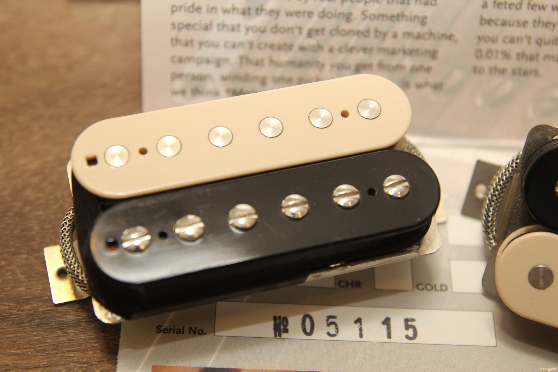 Patno Paf Set Zebra 1961 Gibson P90 Pickups Original Electronics And Wiring Harness No Humbucker Pickup Is The Final Development Of Our Well Known Series We Go One Step Further In Direction Real Vintage Tone