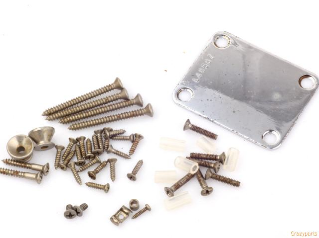 """fits to Strat® /""""Art of Aging/""""Serie Aged ST complete Screws Set 4 Nickel"""