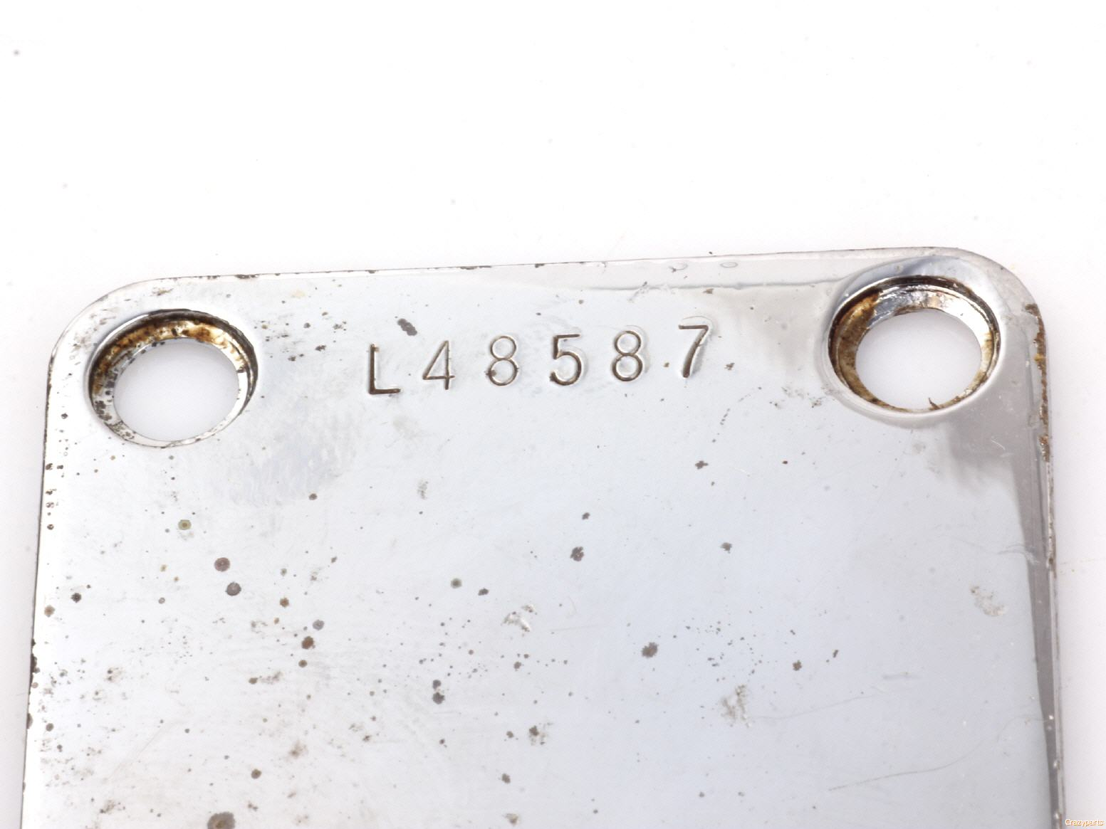 Neckplate with Serial Number