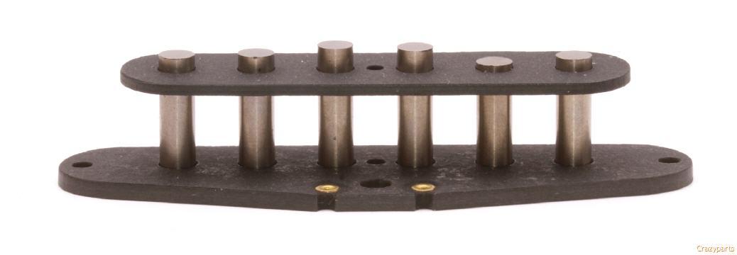 2.5 x .5 x .125/'/'  Qty.1 Alnico 2 Rough Long Vintage Alloy Bar Magnet  apr