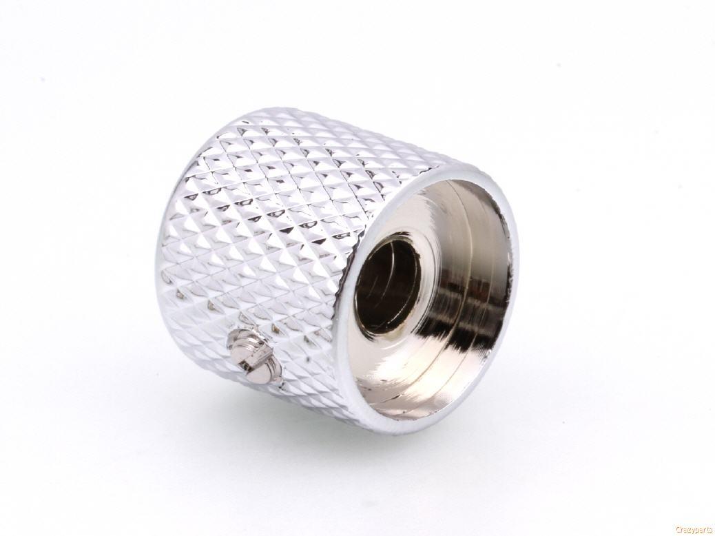 US Spec Domed Knurled Set Screw Knob Chromed Brass 1//4 inch Solid Shaft US Made