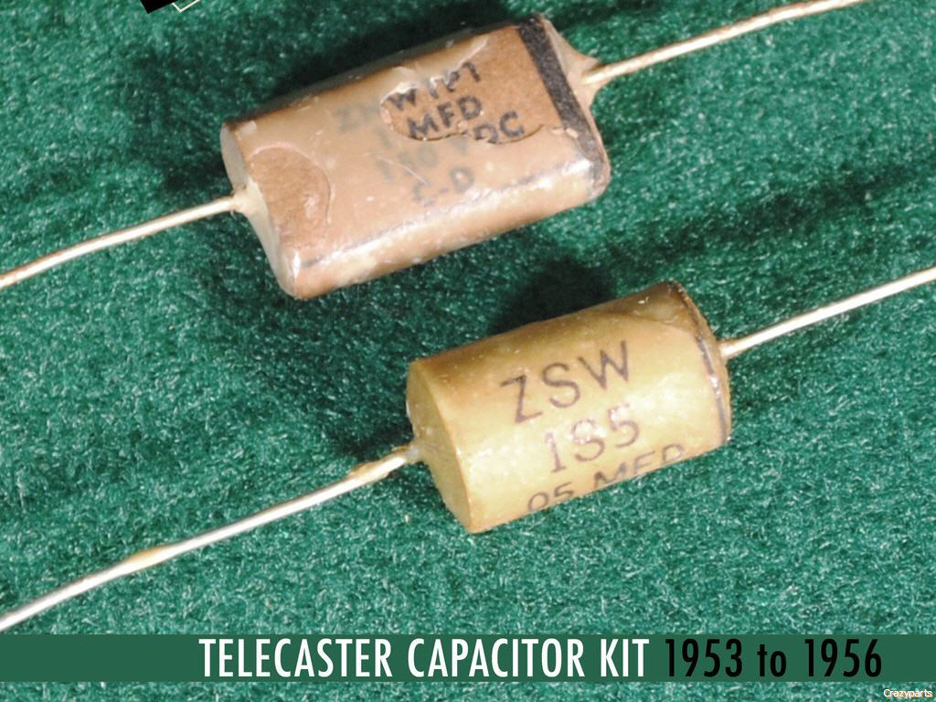 Luxe 53 56 Tele Blackguard Cornell Dubilier Cap Resistors And Capacitors In A Circuit Capacitor Telecaster Dark Kit 1uf Phone Book 05mf Tubular Identical Appearance Performance To Original Components Used
