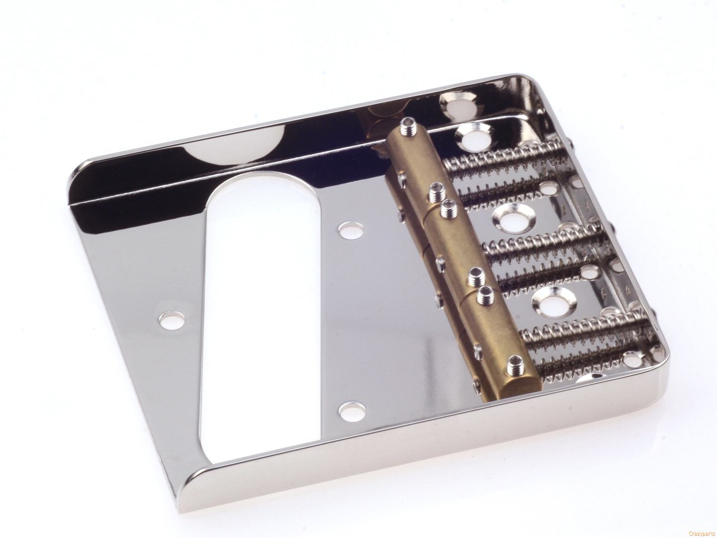 Nickel finish Vintage Telecaster bridge with 3 brass saddles
